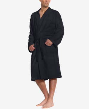 Robe Navy Men's Sleepwear Soft Cotton In Kimono Velour OXuZPki