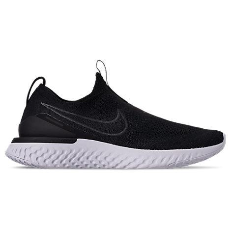 Nike Epic Phantom React Flyknit Slip-On Sneakers In Black