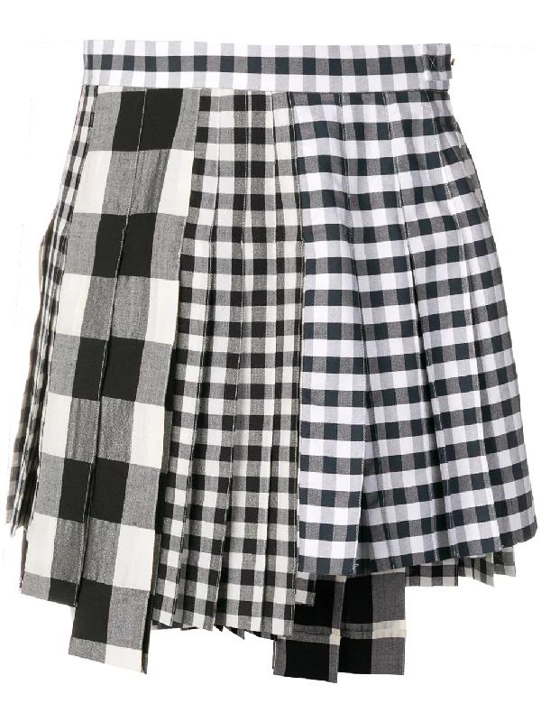 3fe576eb2 Thom Browne Altered Pleat Miniskirt - Blue