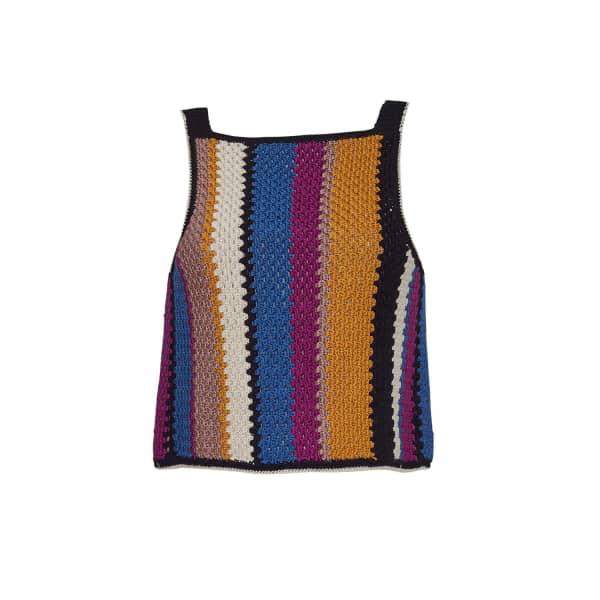 Eleven Six Ali Crochet Top In Multi-stripe Combo