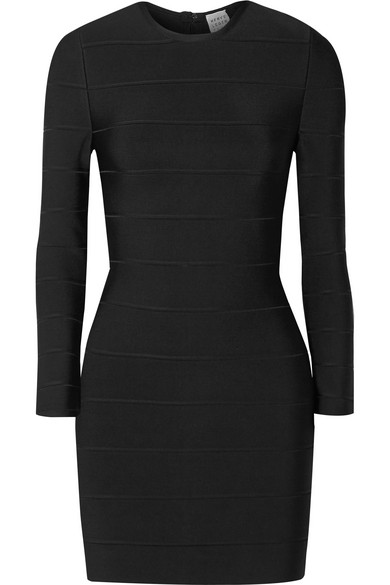 Herve Leger Bandage Mini Dress In Black