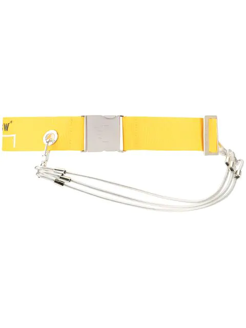 A-Cold-Wall* Logo Webbing Belt In Yellow