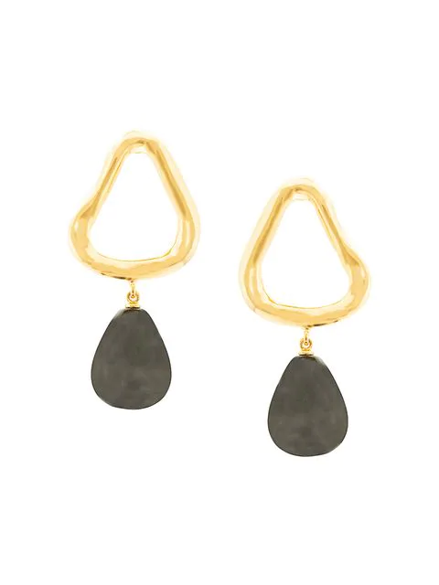 Lizzie Fortunato Alta Drop Earrings In Black