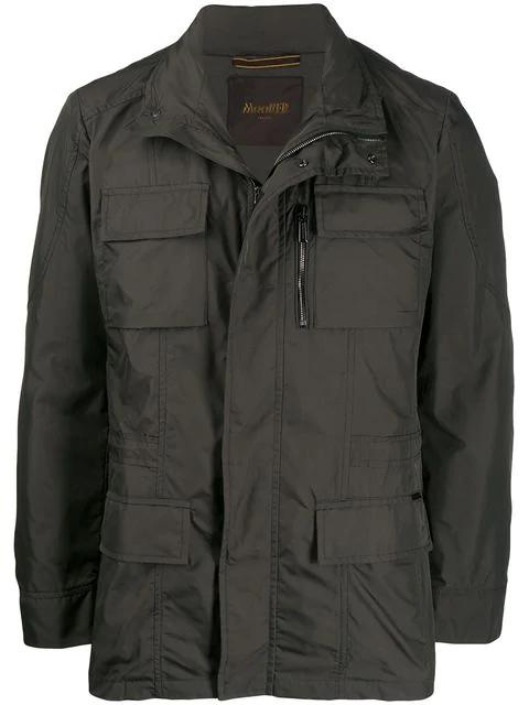 Moorer Manolo Field Jacket In Green
