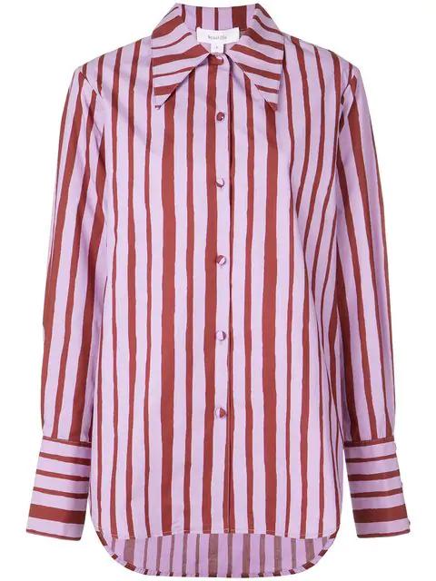 Beaufille Striped Shirt - Purple