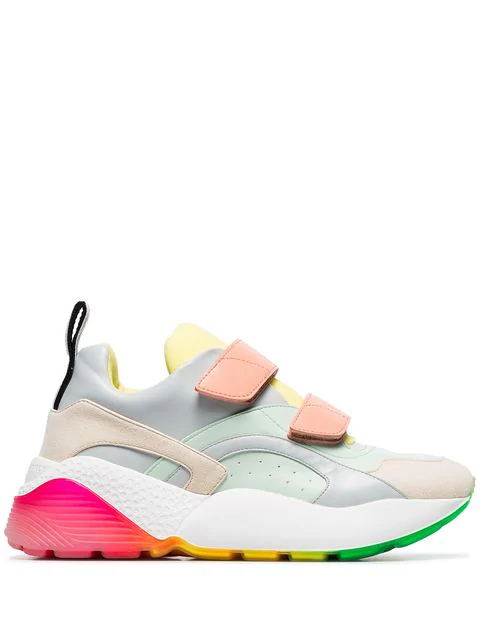 Stella Mccartney Eclypse Sneakers In Multicolor Faux Leather In 4775 - Az/Mi/Ad/Bu/Ci/Wg/Bk
