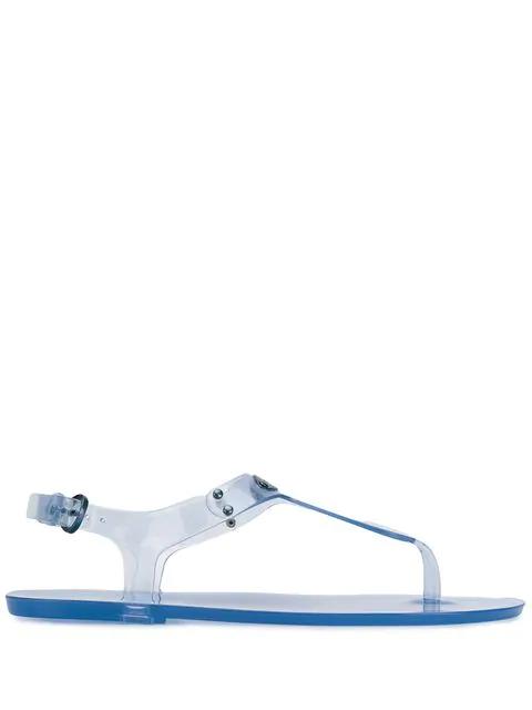 Michael Michael Kors Mk Plate Jelly Sandals In Blue