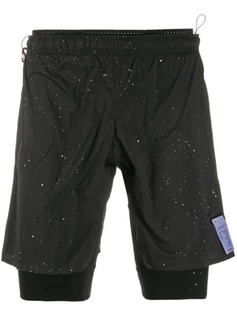 Satisfy Layered Cycling Shorts In Black