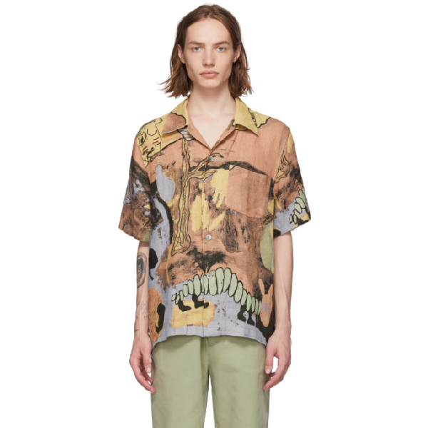 Our Legacy Multicolor Box Short Sleeve Shirt In Multicoloured