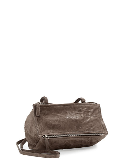 Givenchy 'Small Pepe Pandora' Leather Crossbody Bag - Grey In Anthracite
