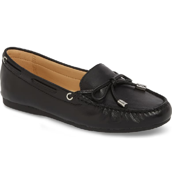 Michael Michael Kors Women's Sutton Leather Moccasins In Black