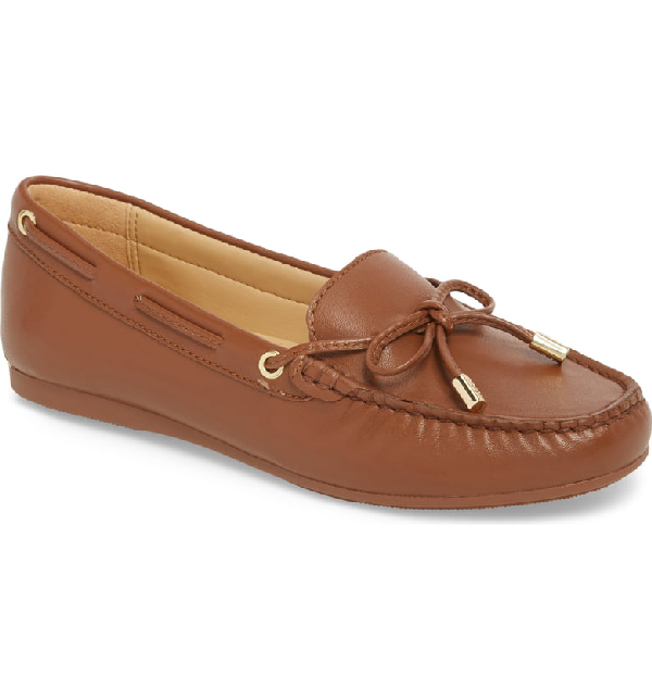 Michael Michael Kors Women's Sutton Leather Moccasins In Luggage Leather