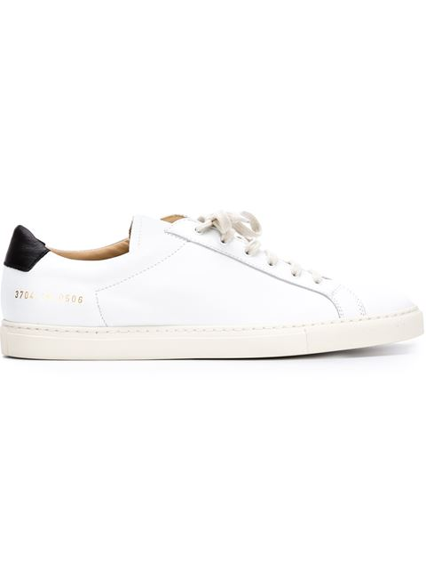 Common Projects Achille Retro Low White Leather Sneakers