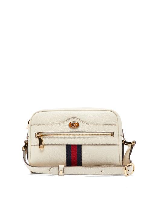 Gucci Mini Ophidia Mini Leather Crossbody Bag - White