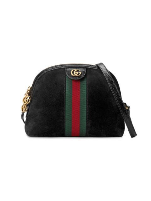 Gucci Small Ophidia Leather Shoulder Bag - Black In 1060 Black