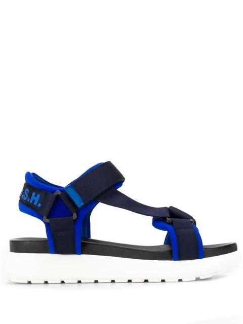 P.a.r.o.s.h. Parosh Ridged Platform Sandals In Blue