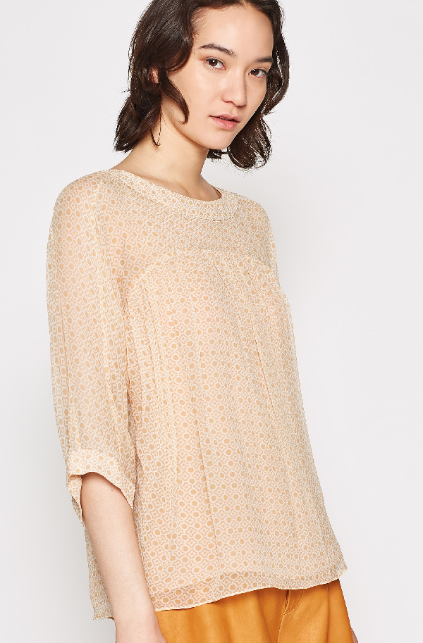 Joie Anan Silk Top In Latte
