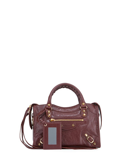 Balenciaga Classic City Mini Leather Satchel Bag In Red