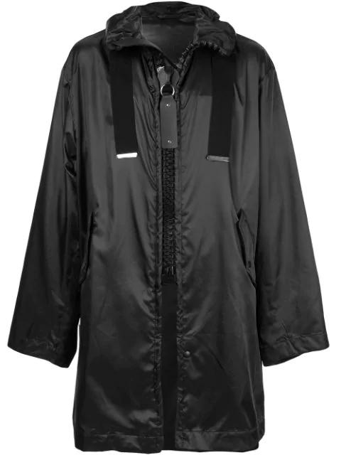 Miharayasuhiro Oversized Zip Raincoat In Black