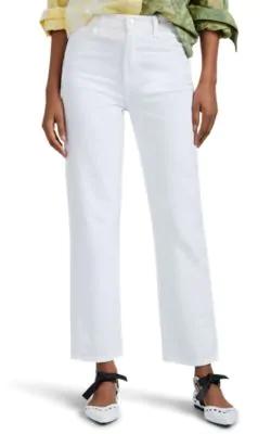 850b721e32 J Brand Jules High-Rise Straight Leg Jeans In White | ModeSens