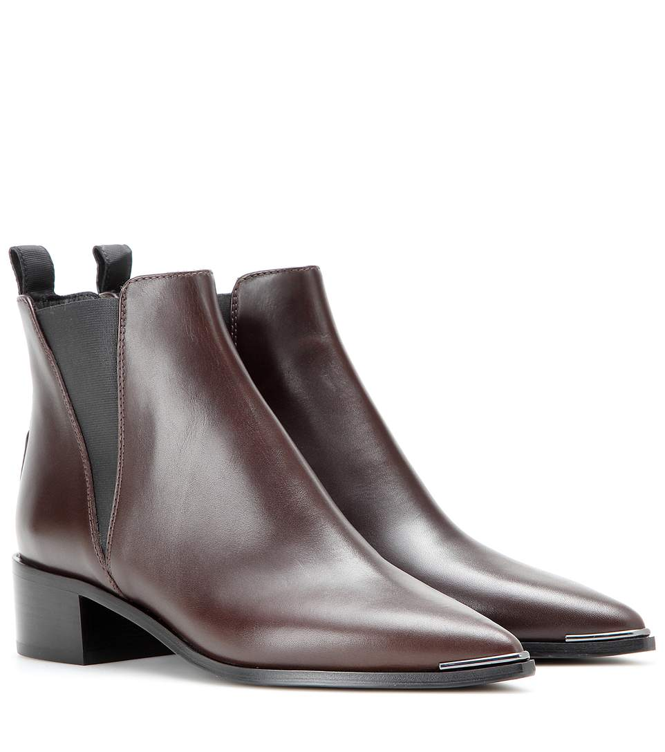 Acne Studios Jensen Leather Ankle Boots In Brown