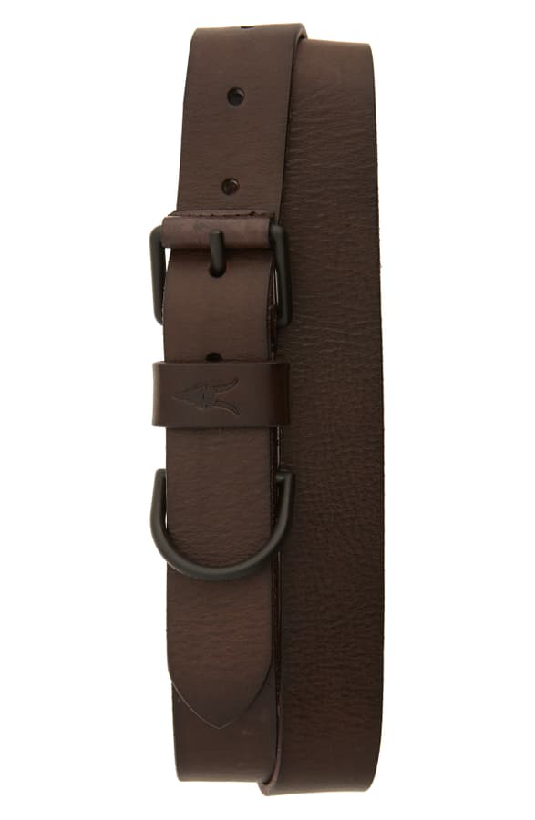 Allsaints Men's D-ring Leather Belt In Bitter Brown