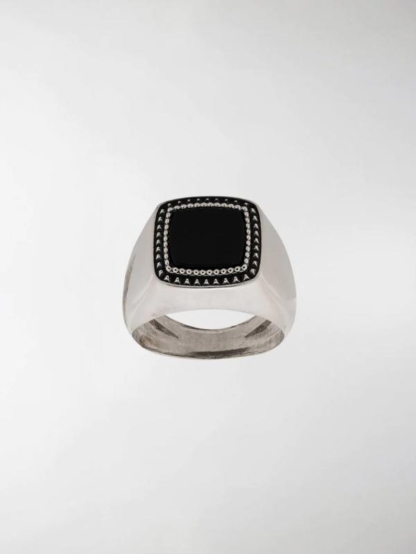 Emanuele Bicocchi Chevalier Squared Ring In Silver