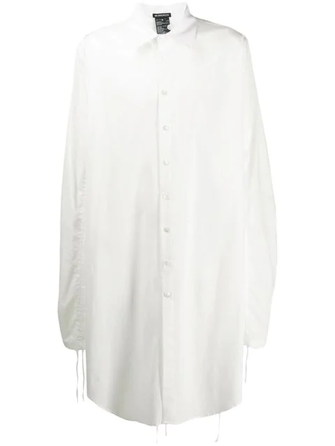 Ann Demeulemeester Oversized Long Shirt In White