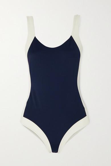 Odyssee Aurelia Colour-block Swimsuit In Navy
