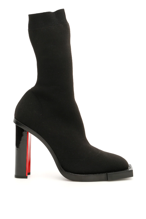 Alexander Mcqueen Hybrid Sock Boots In Black,red