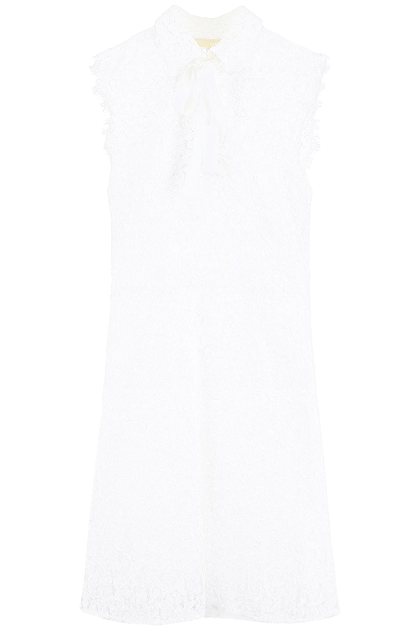 Michael Michael Kors Lace Dress With Bow In White