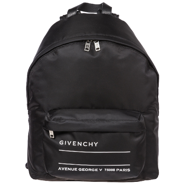 Givenchy Men's Nylon Rucksack Backpack Travel In Black