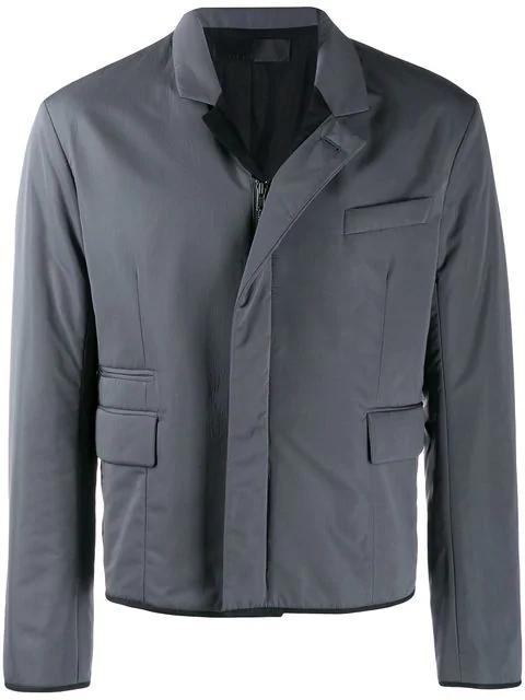 Haider Ackermann Padded Zip-Up Jacket In Grey