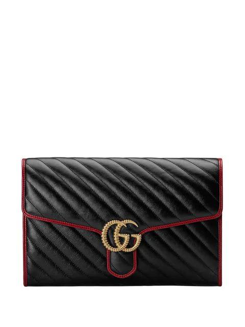 Gucci Gg Marmont Clutch In 8277 Black