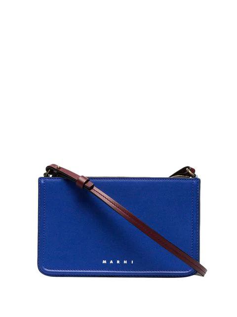 Marni Beat Crossbody Bag In Blue