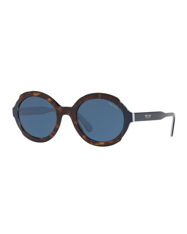 Prada Mirrored Acetate Sunglasses In Brown