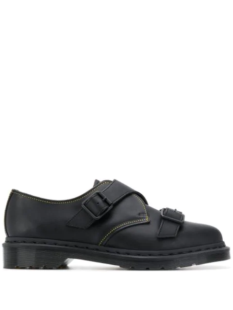 Yohji Yamamoto X Dr Martens Classic Derby With Monk Straps Shoes In Black
