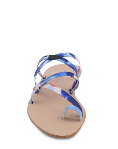 Loeffler Randall Toe Strap Sandals In Blue