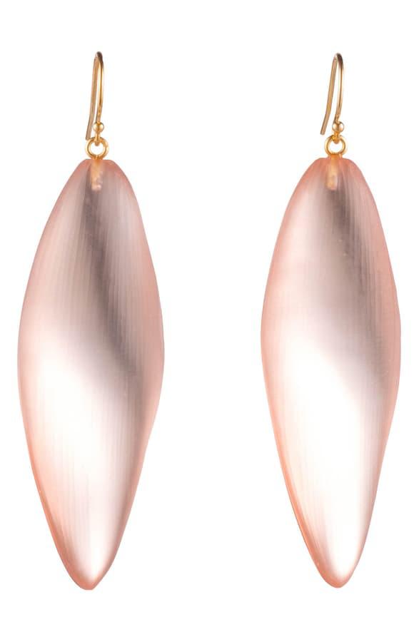 Alexis Bittar Leaf-inspired Drop Earrings In Sunset