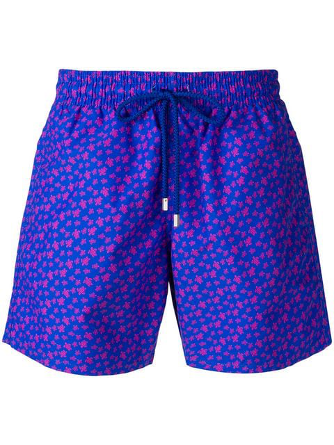 Vilebrequin Turtle-print Swimshorts In Blue