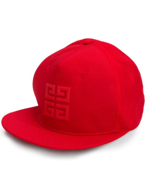 Givenchy Embroidered Logo Baseball Cap In Red