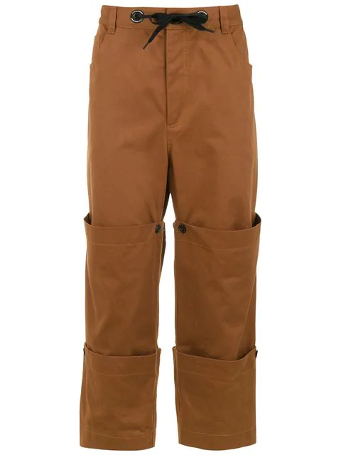 À La Garçonne Layered Pants In Yellow