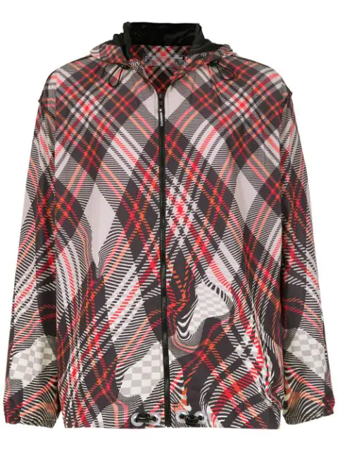 À La Garçonne À La Garçonna X Olympikus Checked Jacket In Multicolour