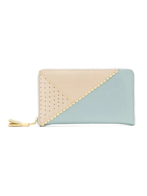 Sarah Chofakian Leather Wallet In Blue