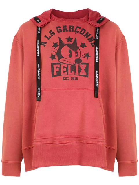 À La Garçonne Oversized Felix Sweatshirt  + Hering In Orange