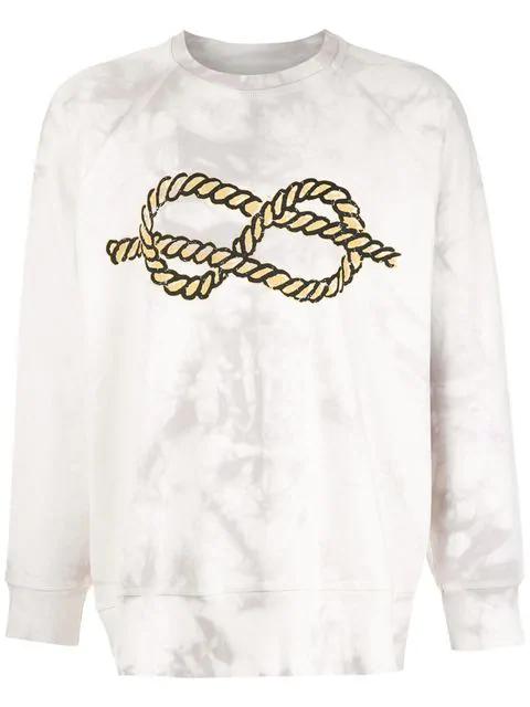 À La Garçonne + Hering Knot Sweatshirt In White