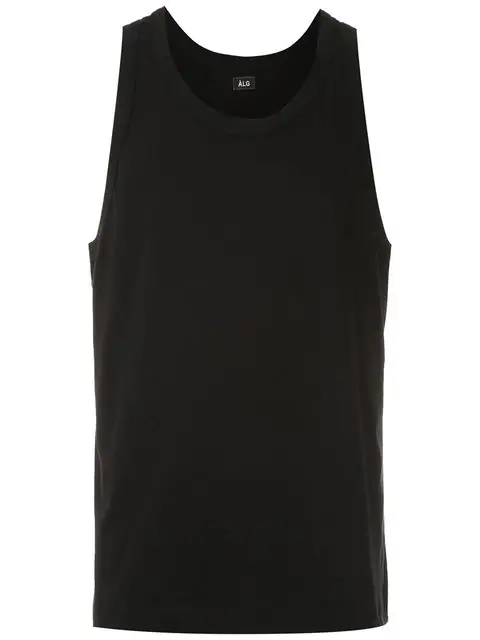 ÀLg Rear Logo Tank Top - Black