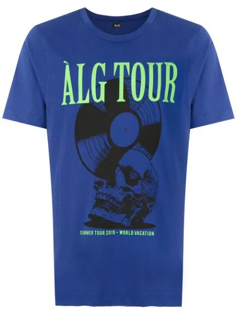 ÀLg Alg Tour T-Shirt - Blue