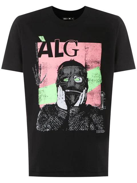 ÀLg Hering Print T-Shirt - Schwarz In Black