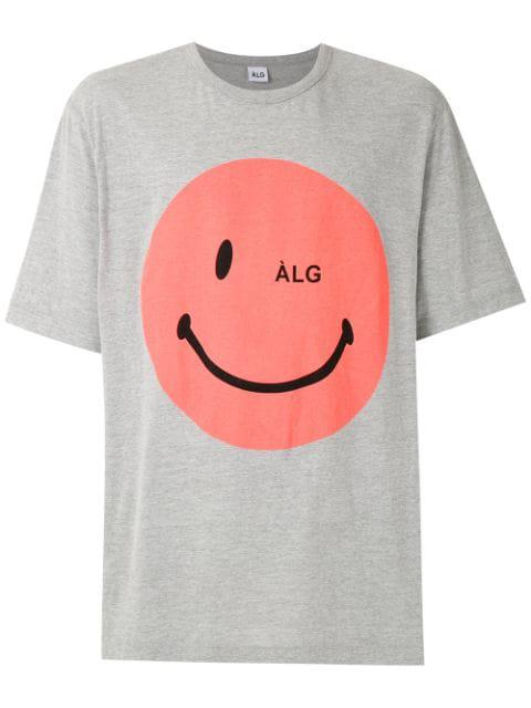 ÀLg Smiley T-Shirt - Grau In Gray
